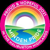 Minden Pride 2021 Proud and Hopeful logo - pink version
